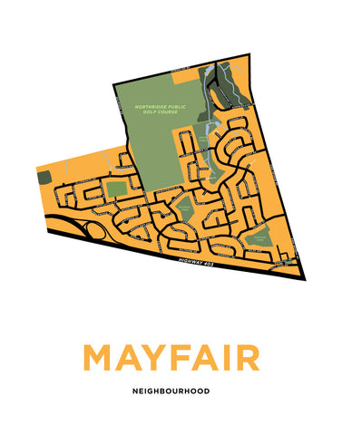 Mayfair Neighbourhood Map Print