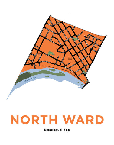 North Ward Neighbourhood Map Print