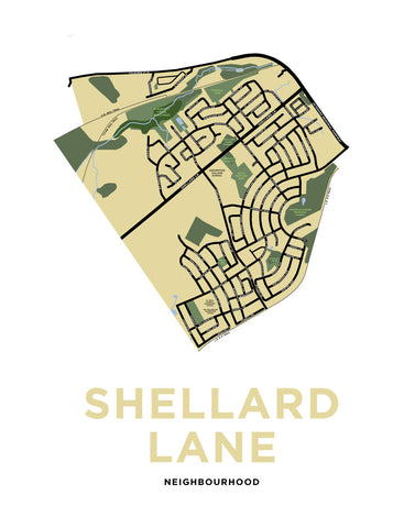 Shellard Lane Neighbourhood Map Print