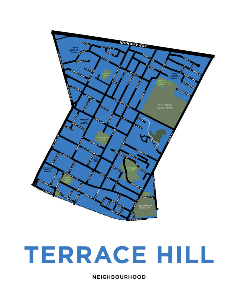 Terrace Hill Neighbourhood Map Print