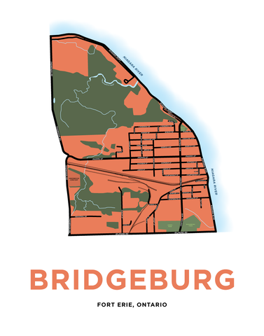 Bridgeburg Map Print
