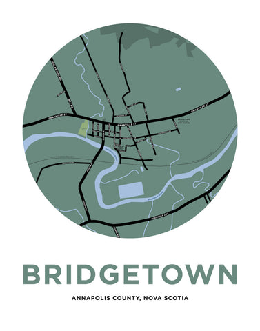 Bridgetown, Nova Scotia Map Print