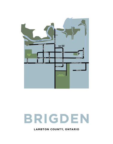 Map of Brigden, Ontario
