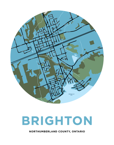 Map of Brighton, Ontario