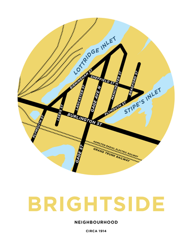 Brightside Neighbourhood Map Print - ca. 1914