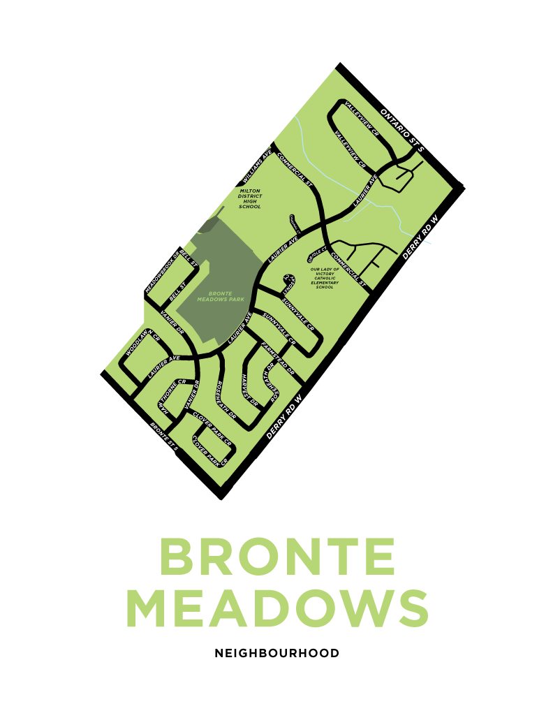 Bronte Meadows Neighbourhood Map Print