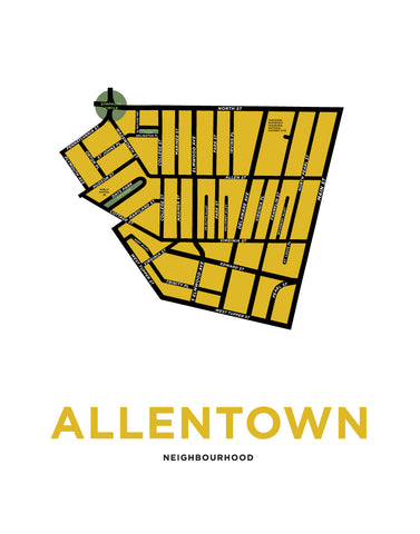Allentown Neighbourhood Map Print (Buffalo, NY)