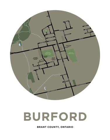Burford Map Print