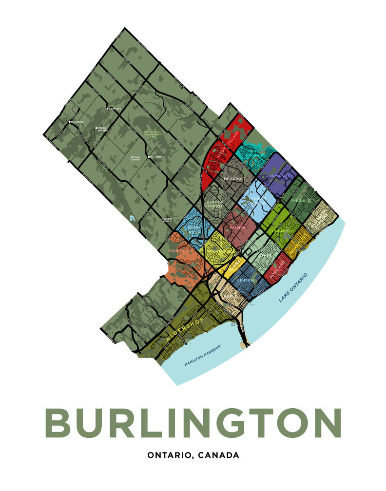 Burlington Neighbourhoods Map