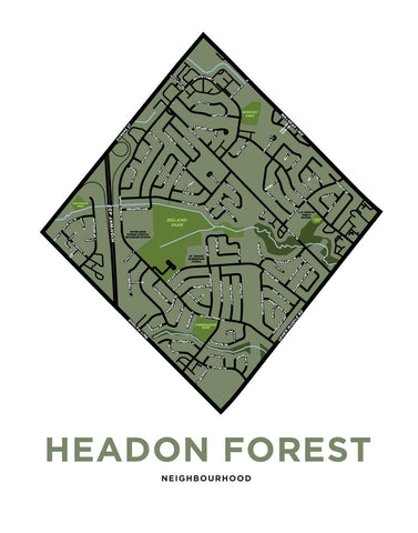 Headon Forest Neighbourhood Map