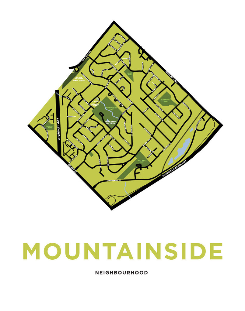 Mountainside Neighbourhood Map