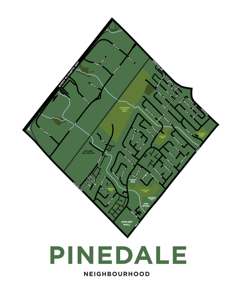 Pinedale Neighbourhood Map