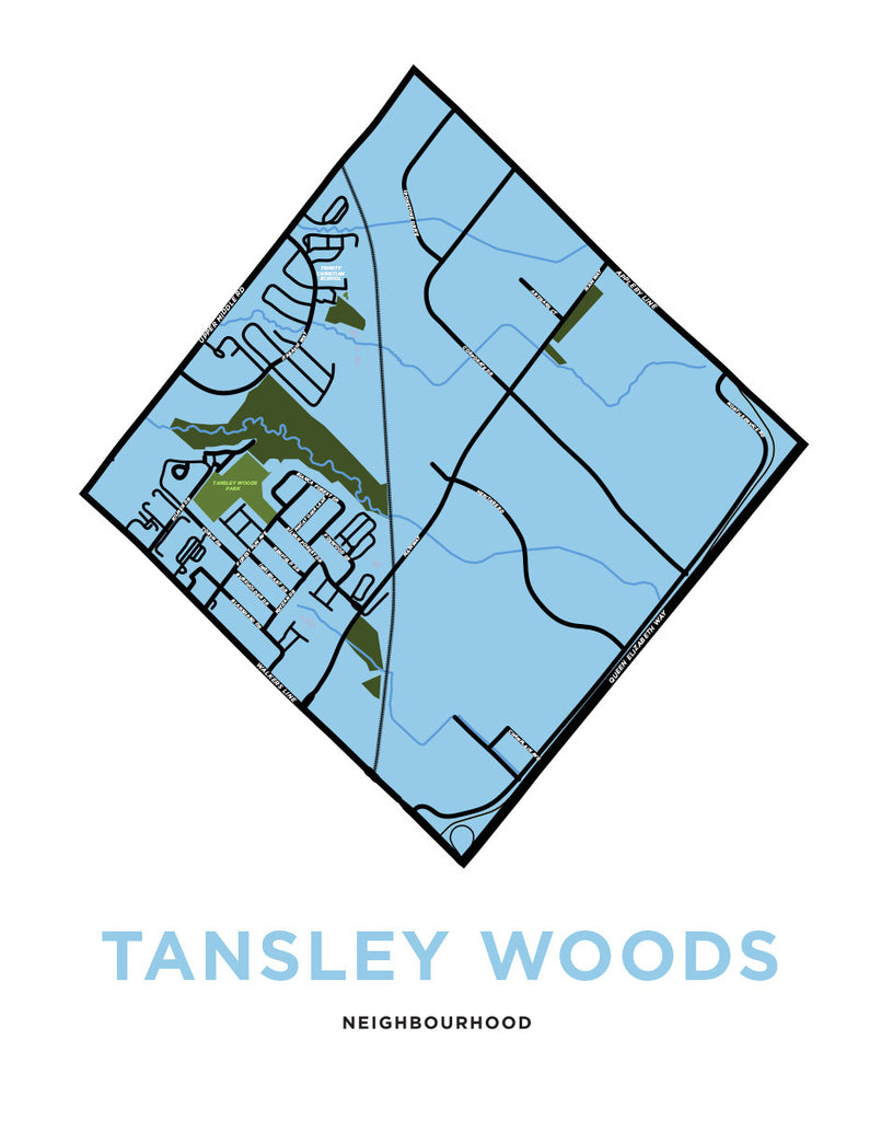 Tansley Woods Neighbourhood Map
