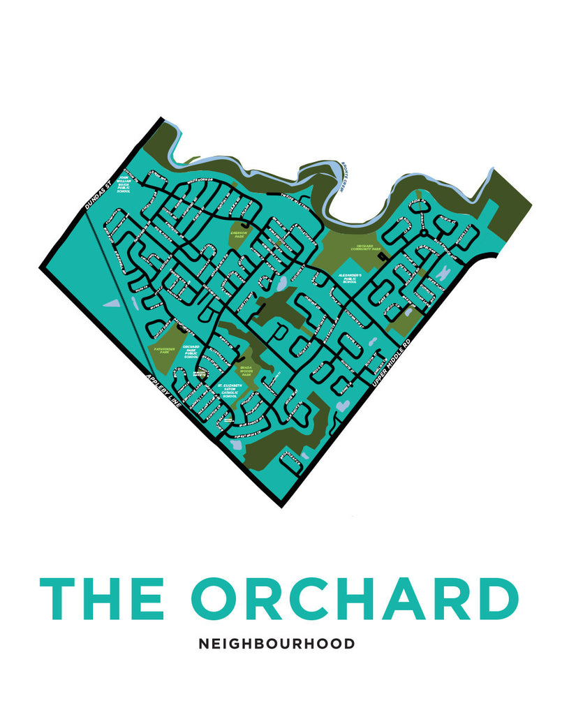 The Orchard Neighbourhood Map