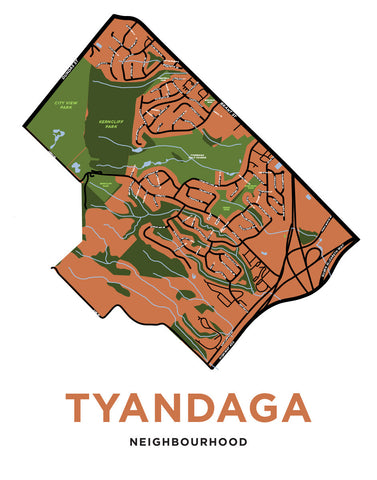 Tyandaga Neighbourhood Map