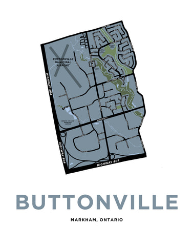 Buttonville Neighbourhood Map Print