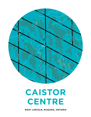 Caistor Centre Map Print