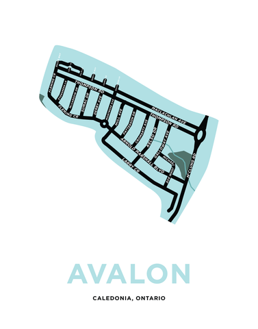 Avalon Caledonia Map Print