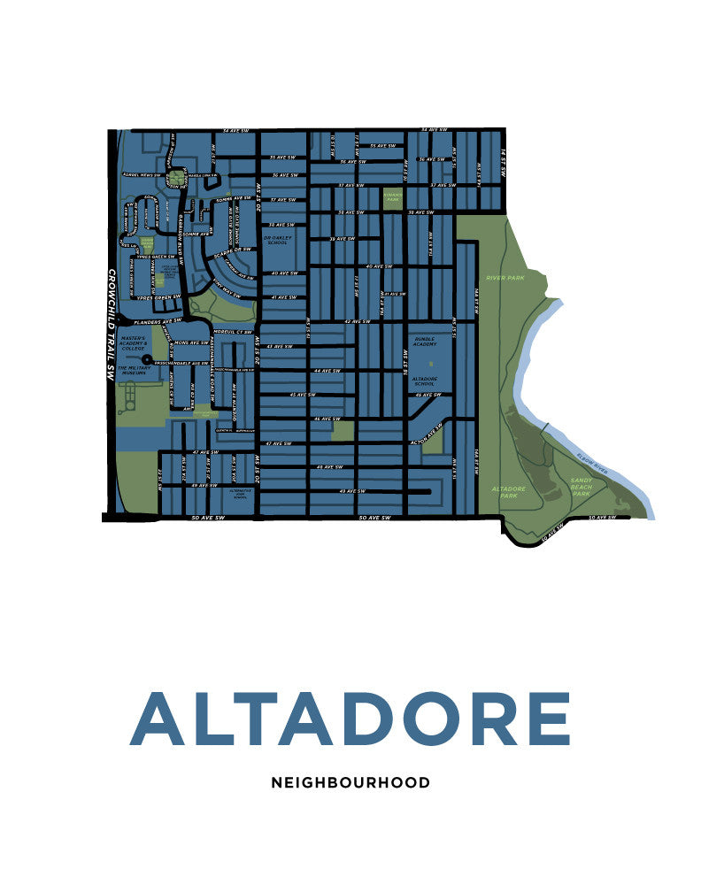 Altadore Neighbourhood Map Print
