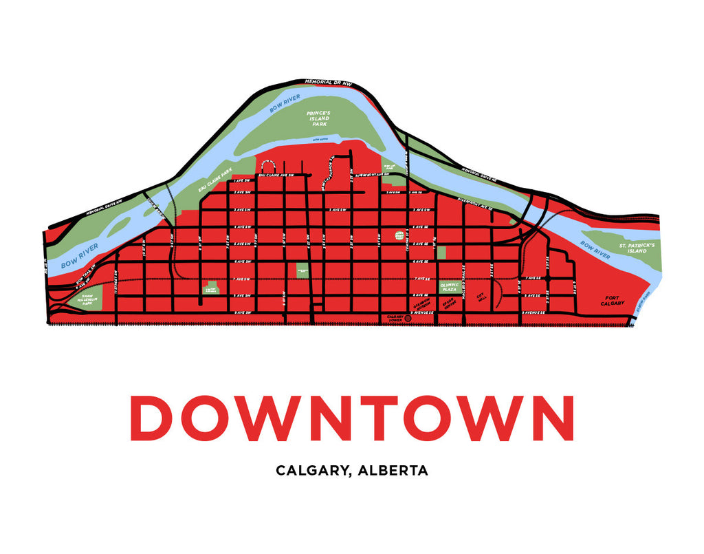 Calgary - Downtown Neighbourhood Map
