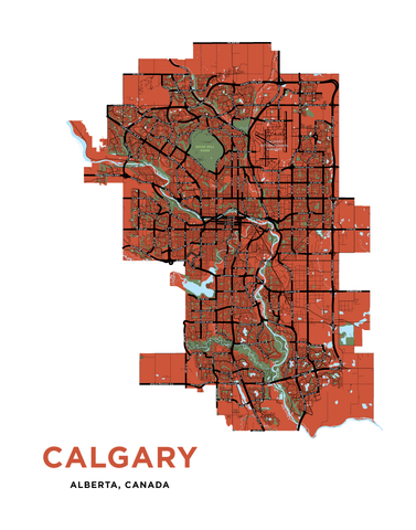 Calgary - Full City Map Print