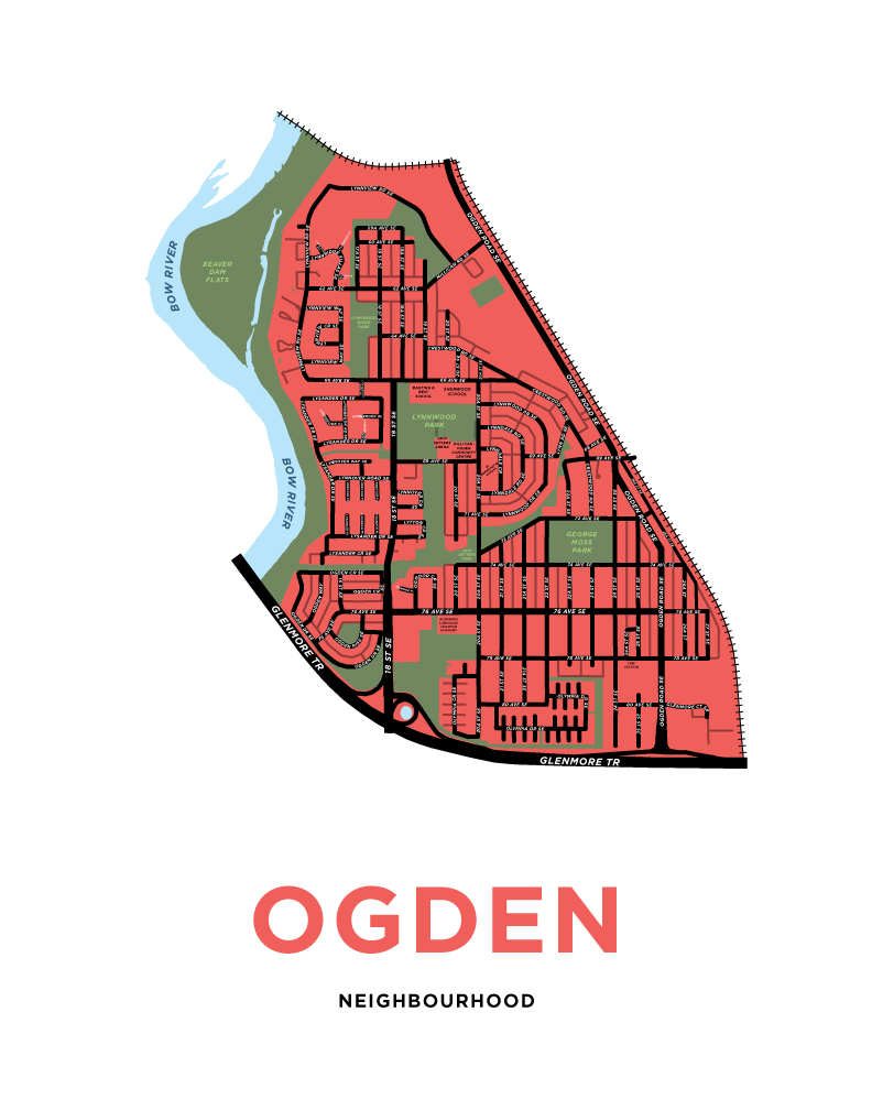 Ogden Neighbourhood Map Print