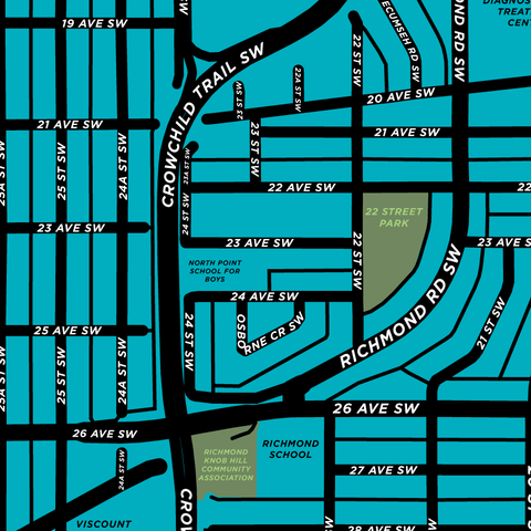 Richmond Knob Hill Neighbourhood Map