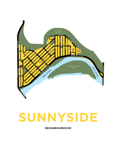 Sunnyside Neighbourhood Map Print