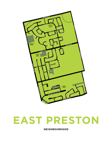 East Preston Map Print