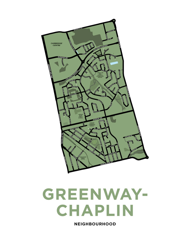 Greenway-Chaplin Neighbourhood Map Print