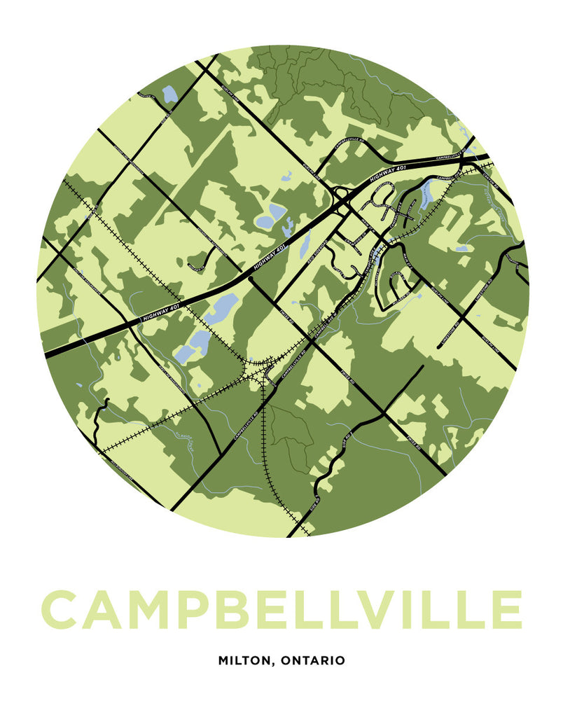 Campbellville Map Print