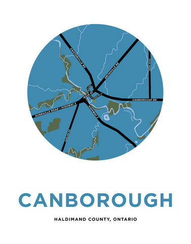 Canborough Map Print