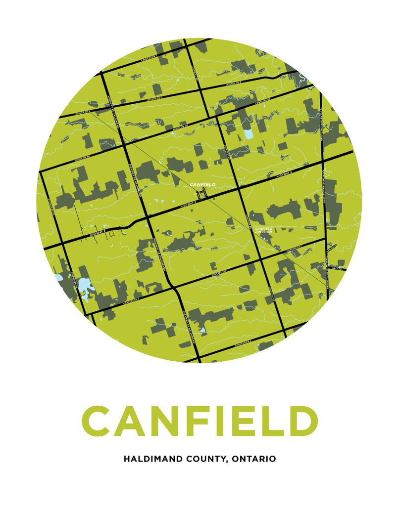 Canfield Map Print