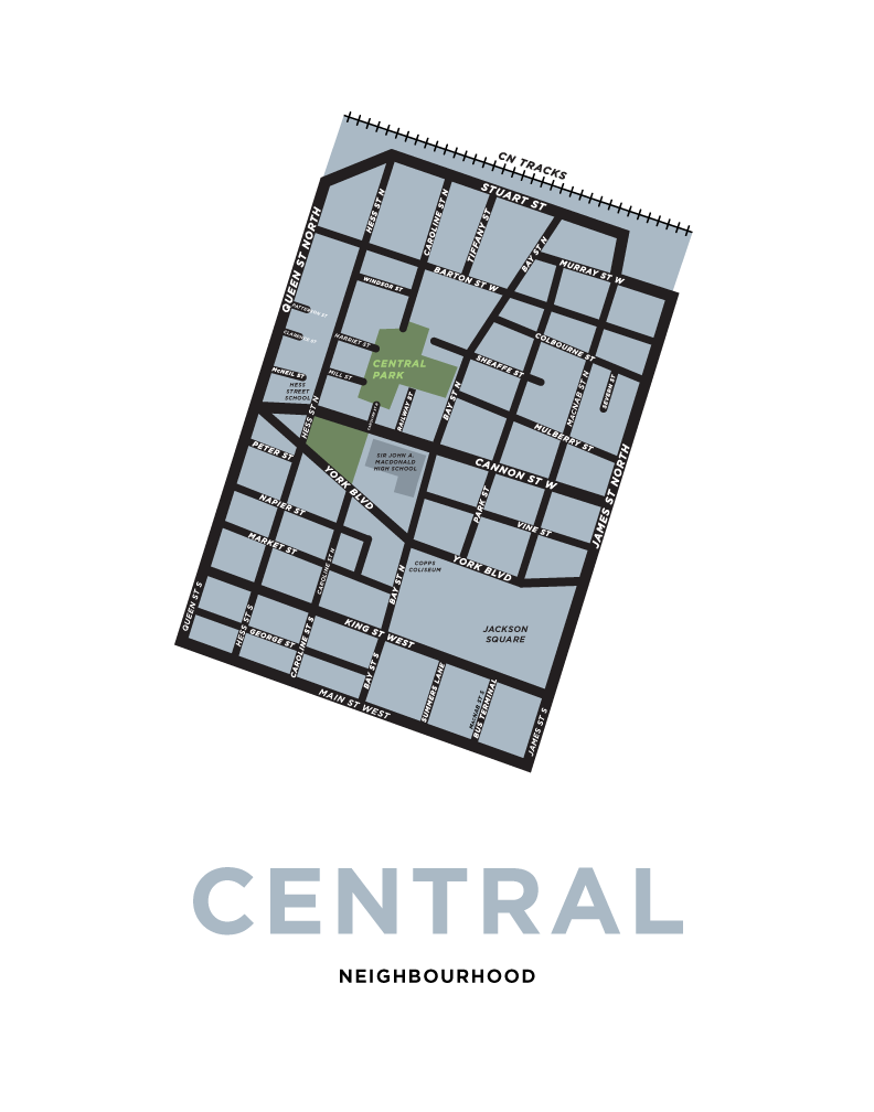 Central Neighbourhood Map