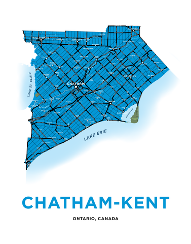 Chatham-Kent Map Print