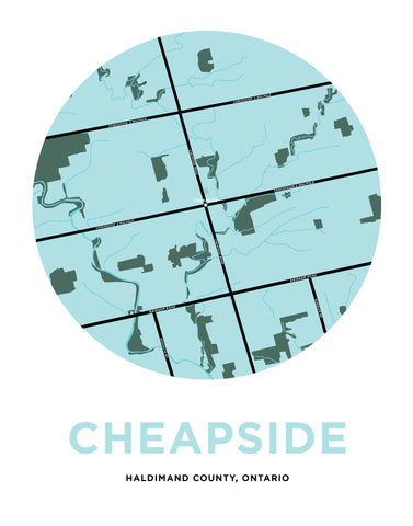 Cheapside Map Print