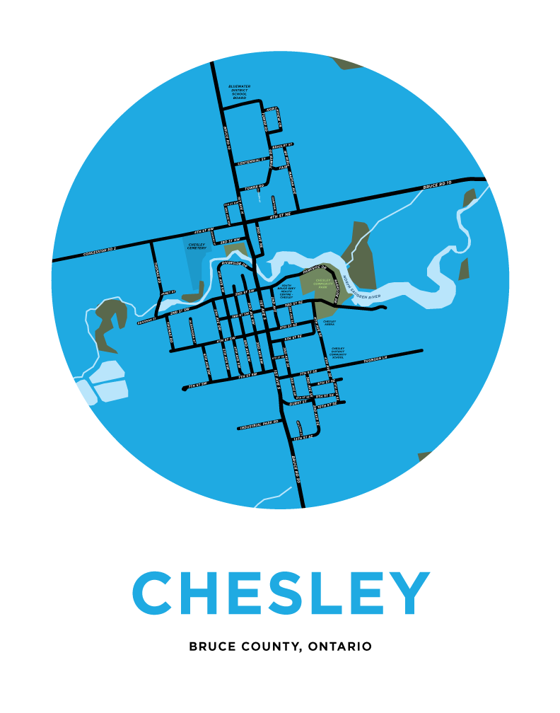 Chesley Map Print