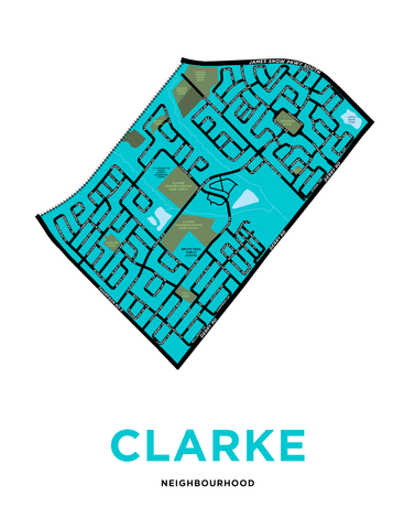 Clarke Neighbourhood Map Print