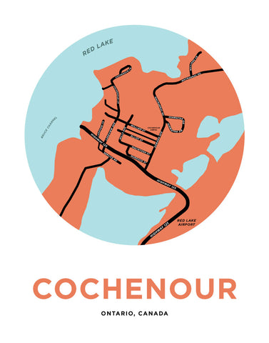 Cochenour Map Print (Kenora District)