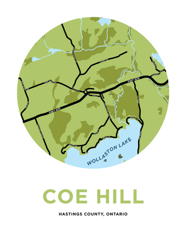 Coe Hill Map Print