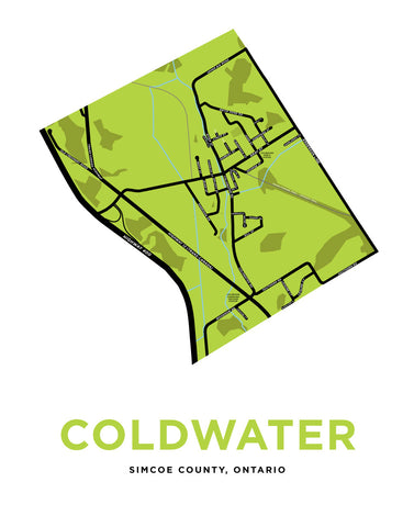 Coldwater Map Print