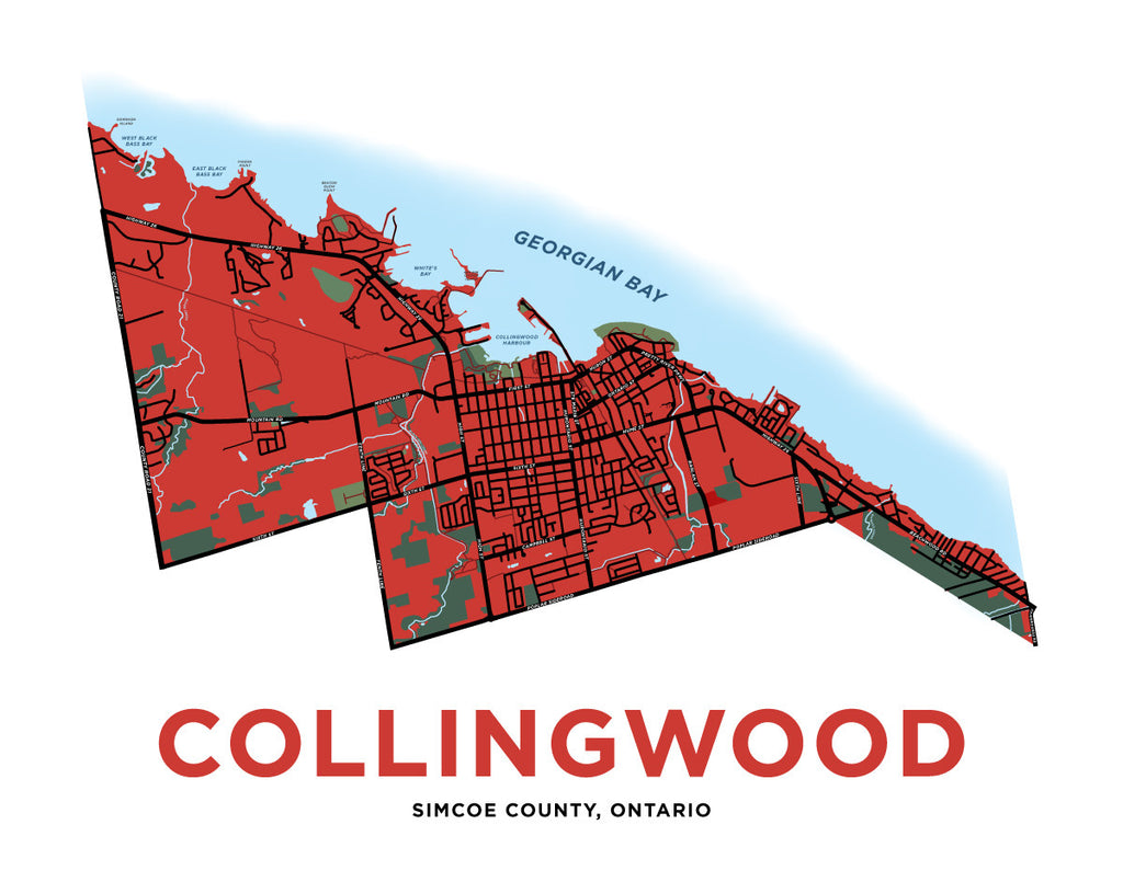 Collingwood Map Print (Full Town)