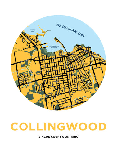 Collingwood Map Print (Downtown)