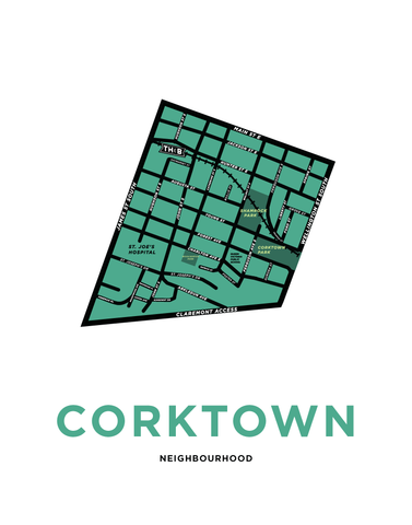 Corktown Neighbourhood Map (Hamilton)