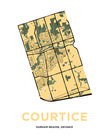 Courtice Map Print