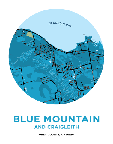 Blue Mountain and Craigleith Map Print
