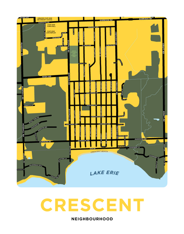 Crescent Neighbourhood Map Print