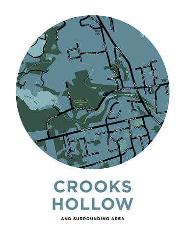 Crooks Hollow Map Print