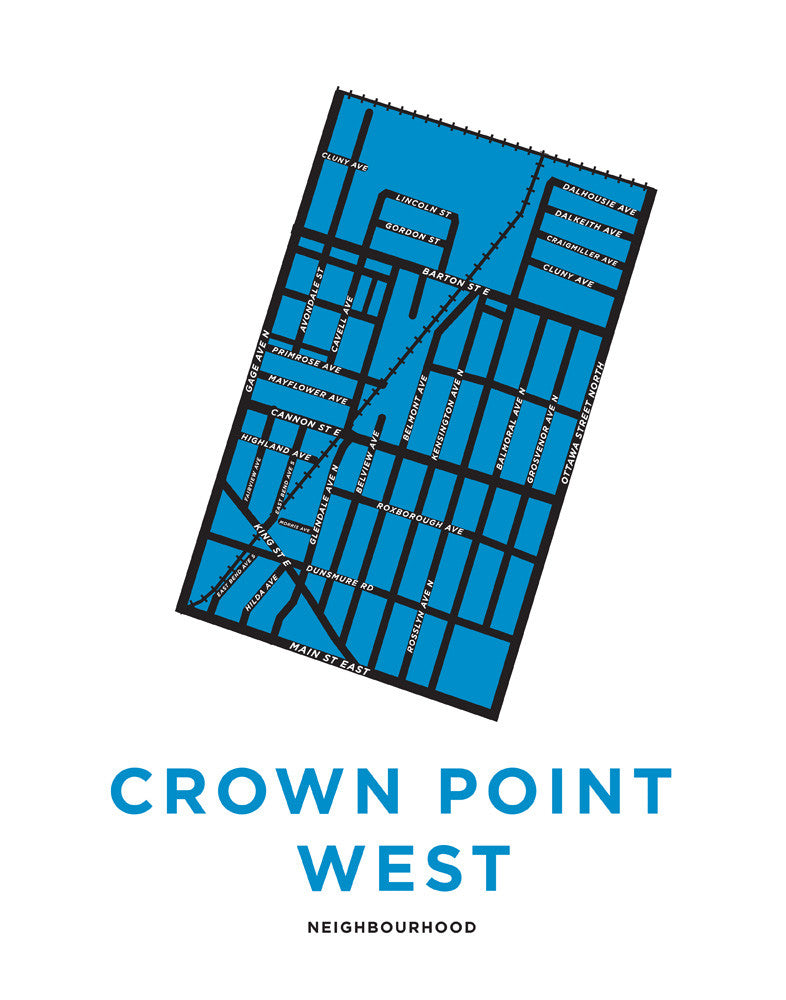 Crown Point West Neighbourhood Map