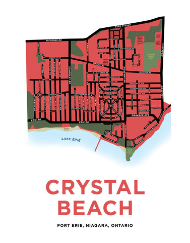 Crystal Beach Map Print